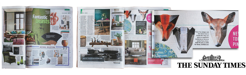 Sunday Times Home section article