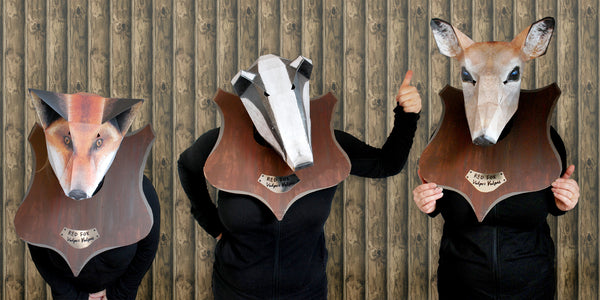 DIY taxidermy group fancy dress costume