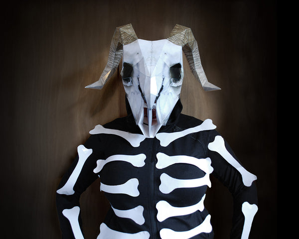 skeleton skull halloween costume