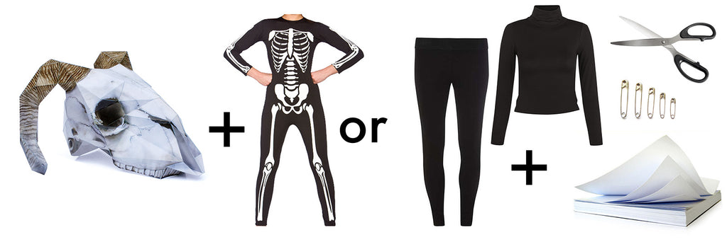 diy skeleton skull halloween outfits