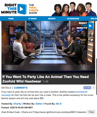 Zoofold article right this minute