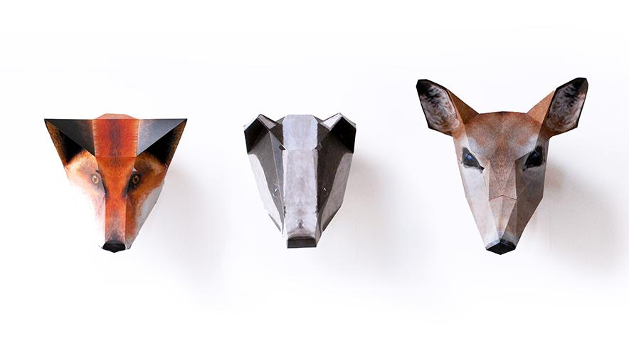 zoofold woodland animal masks