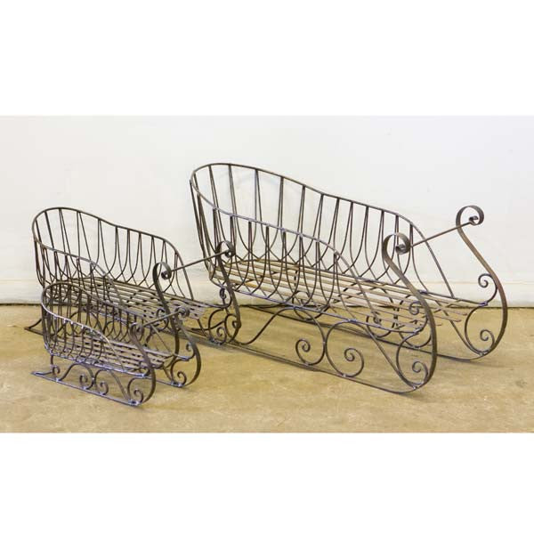 W4205C Wire iron sleigh small