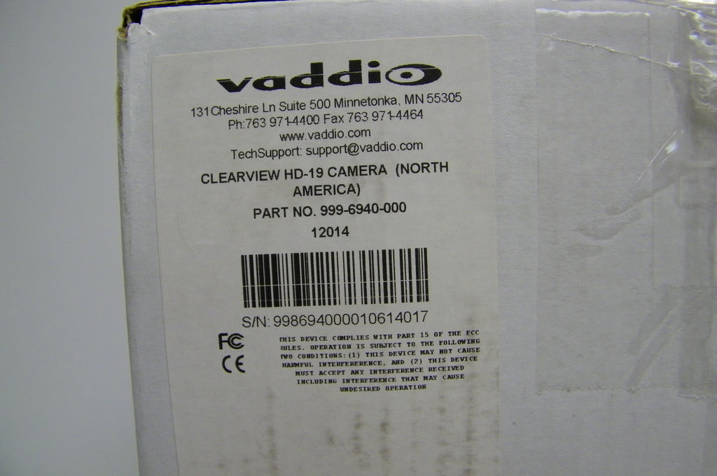 vaddio 999-6940-000 ClearVIEW HD-19 PTZ Camera