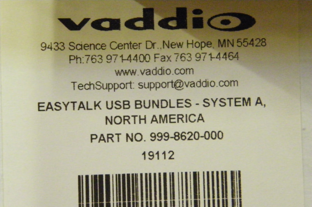 Vaddio 999-8620-000 - EasyTalk USB Audio Bundles System A Includes . . .