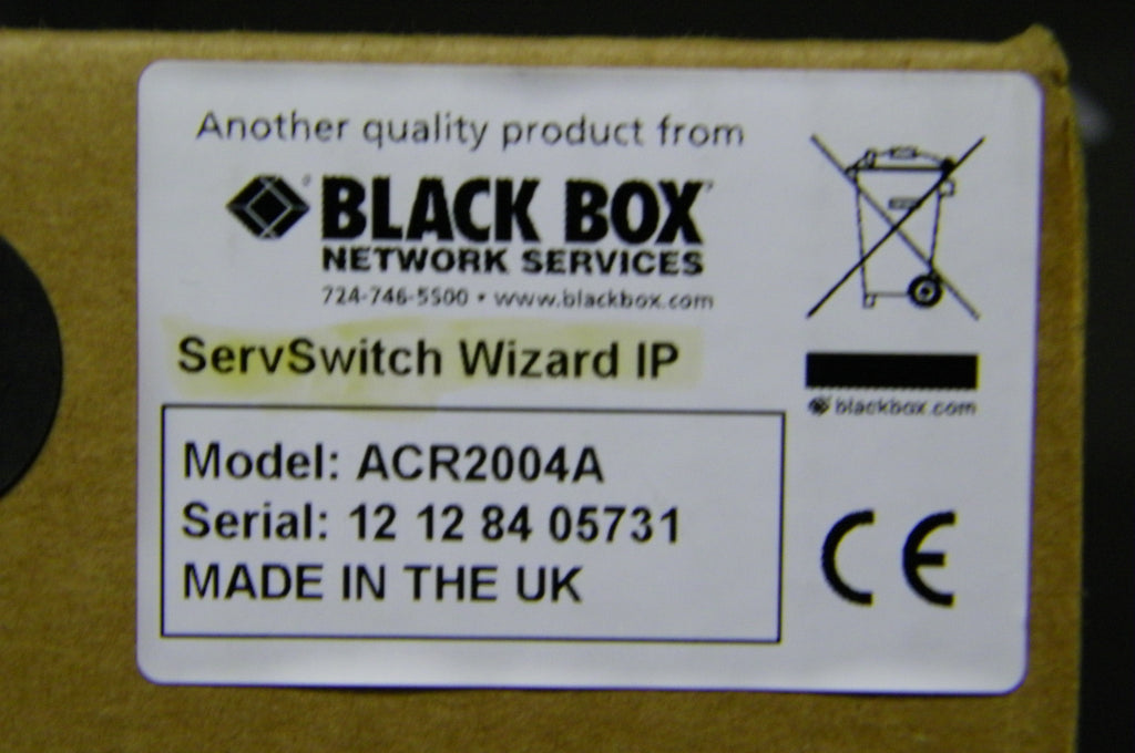 Black Box ServSwitch Wizard IP Remote Manager