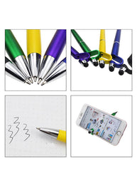 Dual-Use Ballpoint Pen With Mobile Phone Bracket