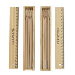 6-Piece Colour Pencil And Ruler Set In Box
