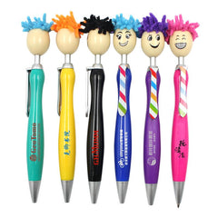 Ballpoint Pen With Smiling Puppet Head On Push Button CG Ballpoint Pens One Dollar Only