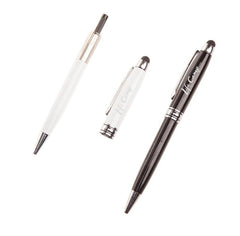Metal Twist-Type Ballpoint Pen With Thick Silver Strip CG Ballpoint Pens One Dollar Only