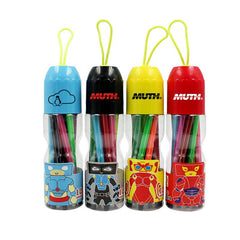 Watercolour Marker Set In Bottle With Cartoon Character Design (12)