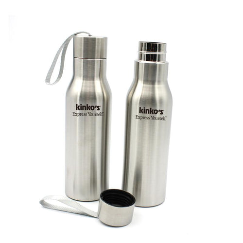 Stainless Steel Drinking Bottle With Screw Cap CG Drinkware One Dollar Only