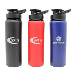 Stainless Steel Drinking Bottle With Matte Metallic Body