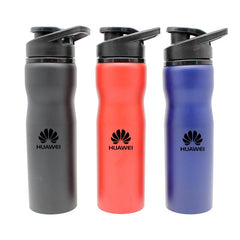 Stainless Drinking Steel Bottle With Matte Metallic Grooved Body