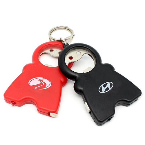 Smiling Man Keychain With Tape Measure, Led Light And Bottle Opener CG Bottle Openers One Dollar Only