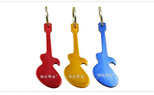 Guitar Keychain With Bottle Opener