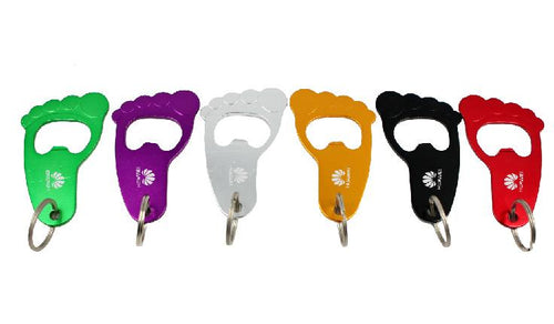 Footprint Keychain With Bottle Opener