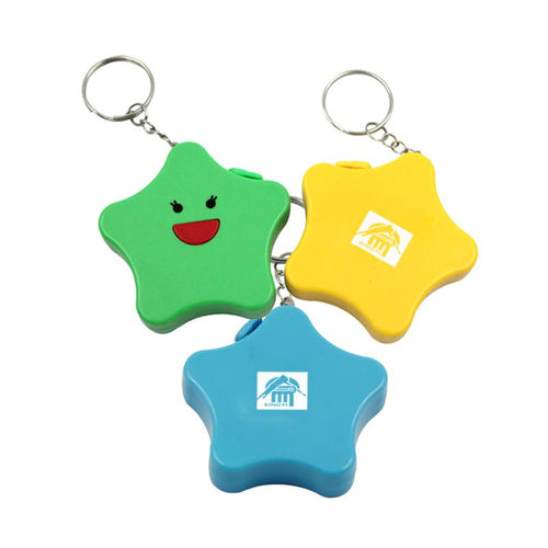 Star Keychain With Tape Measure CG Measuring Tape One Dollar Only