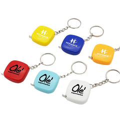 Mini Square Keychain With Tape Measure