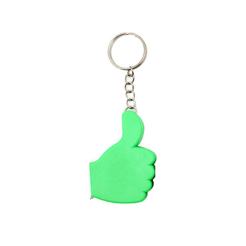 Thumbs Up Keychain With Tape Measure CG Measuring Tape One Dollar Only