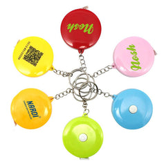 Round Keychain With Tape Measure (5Cm) CG Measuring Tape One Dollar Only