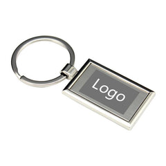 Metal Keychain With Rectangle Design One Dollar Only