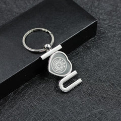 "Zinc Alloy ""I Love You"" Keychain CG Keychains One Dollar Only"