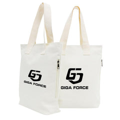 White Canvas Tote Bag With Side Pocket CG Bags One Dollar Only