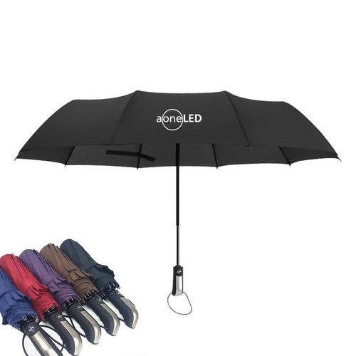 10 Ribbed Automatic Triple-Folding Umbrella