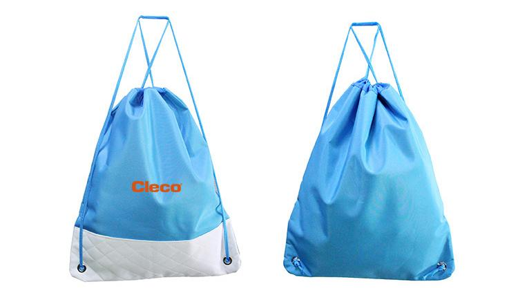 Polyester Drawstring Backpack With Quilt Base CG Bags One Dollar Only