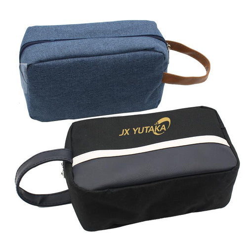 Zippered Toiletry Bag In Blue Or Black