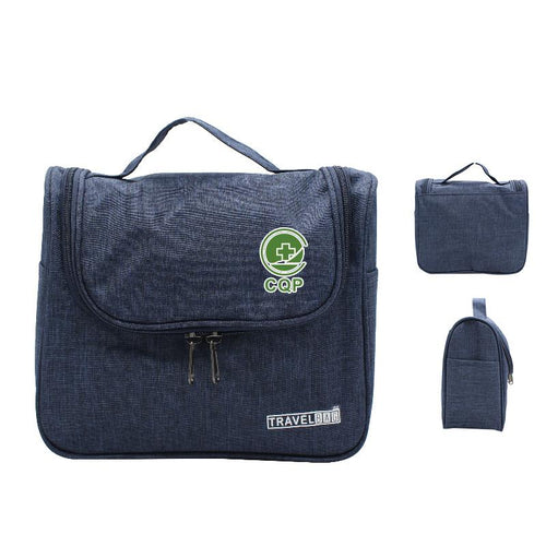 Zippered Toiletry Bag With Side Pockets For Travel