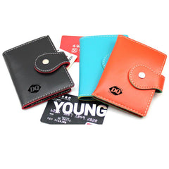 Book-Style Pu Leather Name Card Organiser With Contrast Stitching CG Namecard Holder One Dollar Only