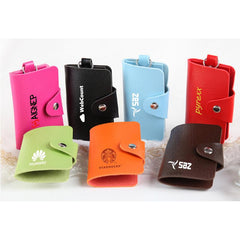 Portable Pu Leather Key Holder Pouch With Six Key Holder Inserts