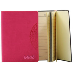 Mini Notebook With Embossed Flower Pattern On Pu Leather Cover CG Notebooks One Dollar Only