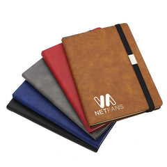 Business Notebook with Pen Holder and Elastic Band Closure