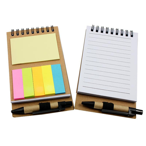 Notepad Set With Spiral Bound Kraft Paper Cover
