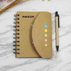 Notebook With Kraft Paper Cover And Curved Flap Closure
