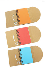 Eco-Friendly Notebook With Curved Flap Closure