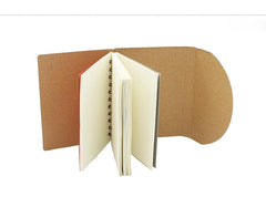 Eco-Friendly Notebook With Curved Flap Closure CG Notebooks One Dollar Only