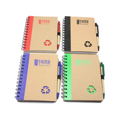 Notebook Set With Recycling Symbol Cutout On Cover