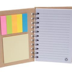 Eco-Friendly Kraft Paper Notebook And Sticky Notes Set CG Notepads One Dollar Only
