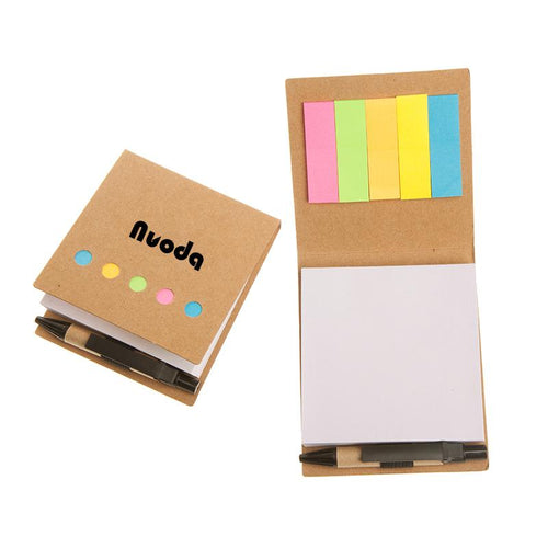 Eco-Friendly Square Notepad Set With Kraft Paper Cover CG Notepads One Dollar Only