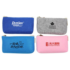 Candy-Coloured Felt Pencil Case CG Pencil Cases One Dollar Only