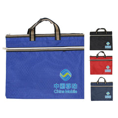 Rectangular Hand Carry Tote Bag with Hexagonal Design