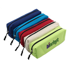 Large Rectangular Zippered Canvas Pencil Case