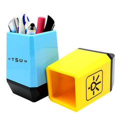 Dual-Coloured Plastic Business Pen Holder CG Pen Holders One Dollar Only
