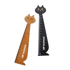 Cat-Shaped Wooden Ruler