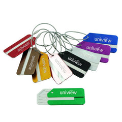 Rectangular Aluminium Luggage Tag With Slanted Edge