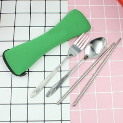 Portable 3-Piece Cutlery Set